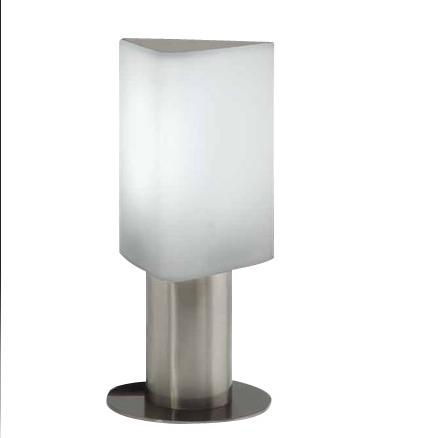 Tiny Table Lamp E27 20W Round Rotomoldeo Stainless Steel Mate