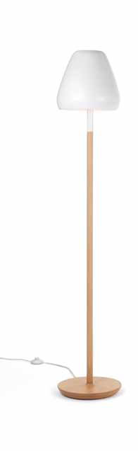 Aspen lámpara of Floor Lamp ceramica 162cm 3xE14 white