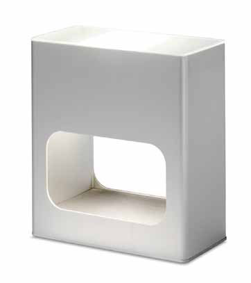 Note Table Lamp Halogen 60w Aluminium white
