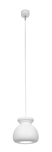 Biscuit Suspension ceramica E27 20w blanc