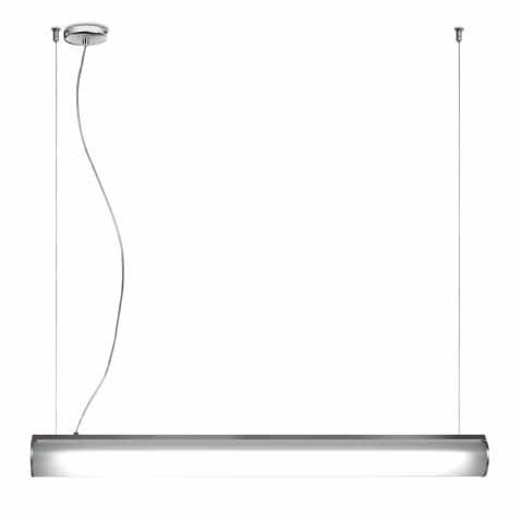 Bath to Pendant Lamp 60cm 24w polycarbonate opal white