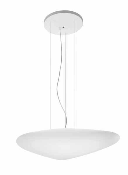 Stone Pendant Lamp 2Gx13 T5 55w white