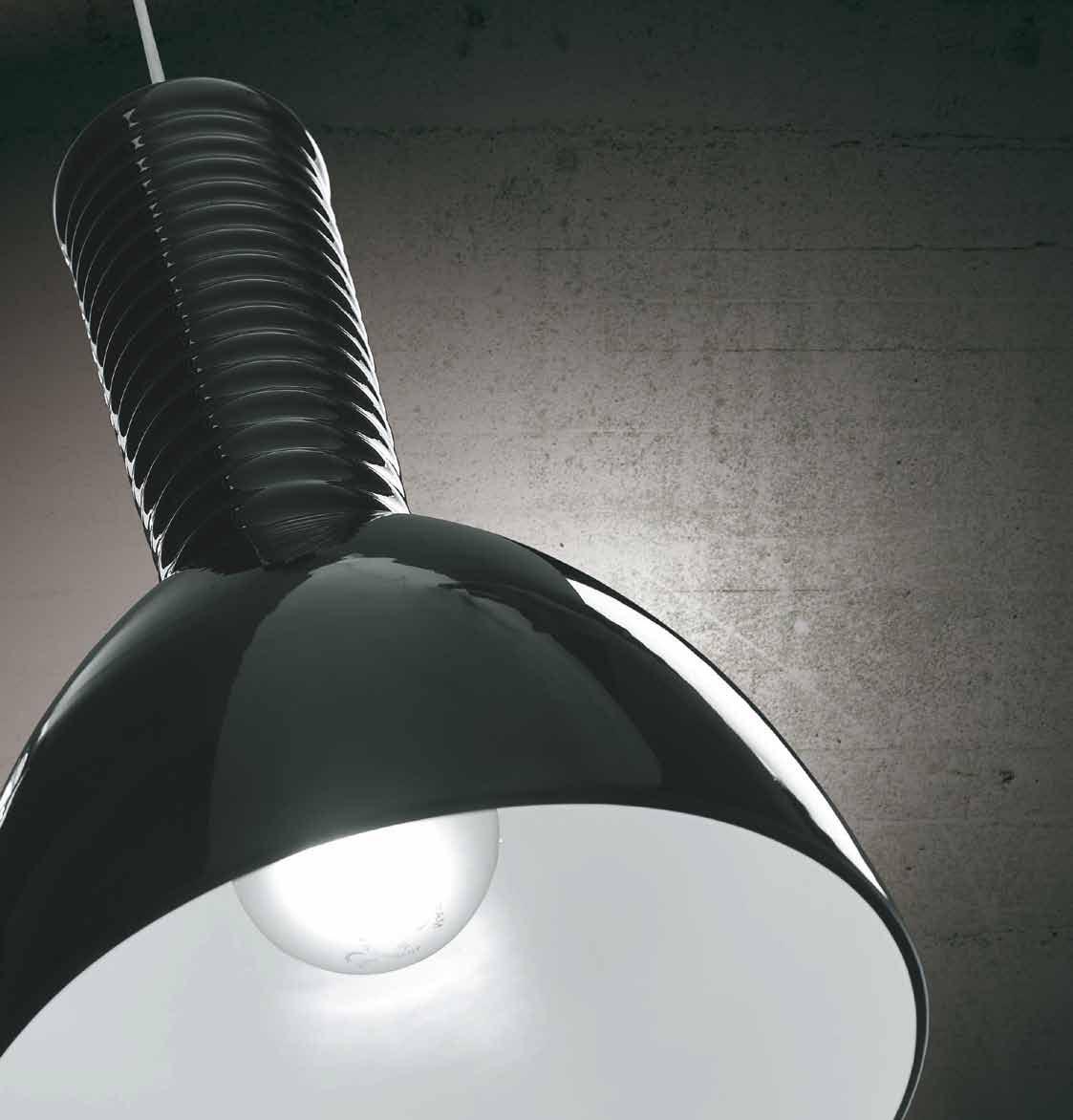 Kone Pendant Lamp E27/100w Glass Black