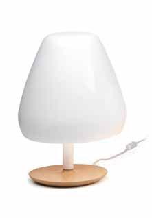 Aspen Lampe de table ceramica 43cm 3xE14 blanc