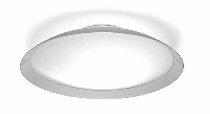 Lens ceiling lamp 120cm tc55W methacrylate opal