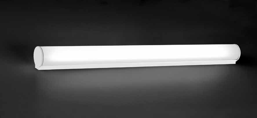 Bath to Wall Lamp 90cm 39w polycarbonate Silver