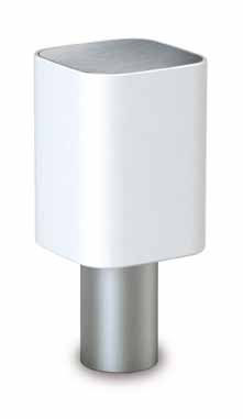Tiny Beacon E27 Square Rotomoldeo Stainless Steel mate