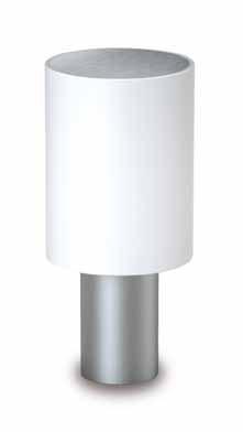 Tiny Beacon E27 Round Rotomoldeo Stainless Steel mate