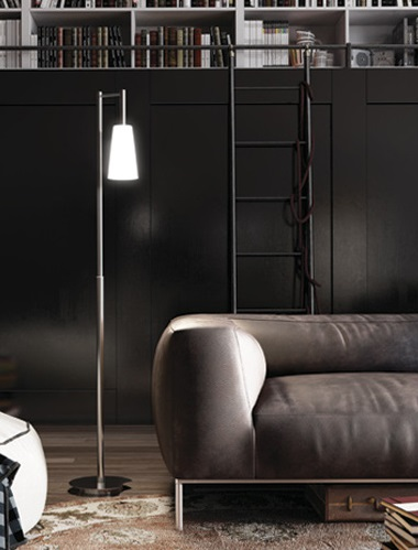Blow lámpara de Pie LED 3W sin Cristal blanco