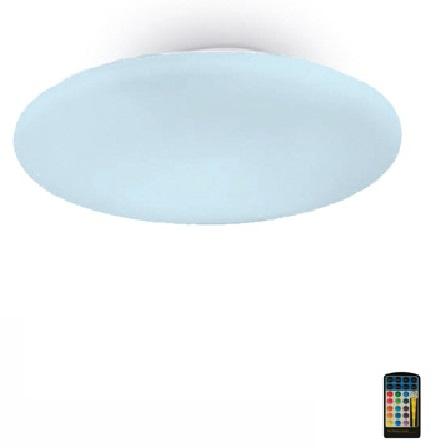 Sun ceiling lamp PLANO Glass opal 40cm RGB