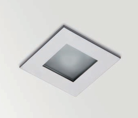 Win Downlight Recessed with Glass IP44 QR-CBC 51 50w Aluminium