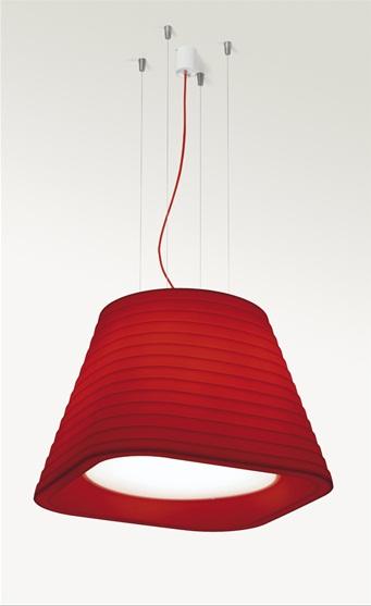 Brigit Lámpara Colgante E27 4x23w IP44 Rojo