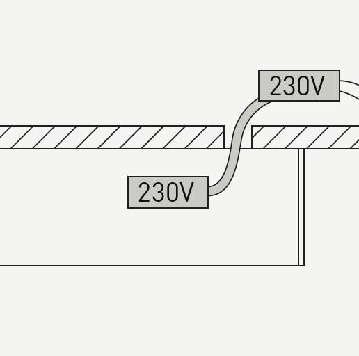 Profile 060 câble Alimentateur Encastré (Accessoire)