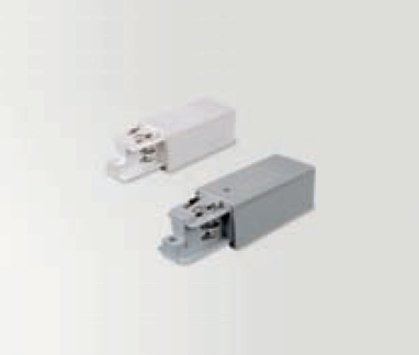 Move electrical connector with alimentación for Track three-phase 230V Accessory white