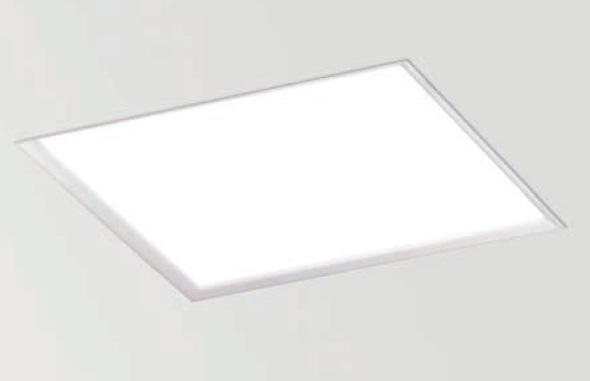 Arkos pantalla T5C Empotrable cuadrada 59,5cm T5 4x24w G5 blanco mate