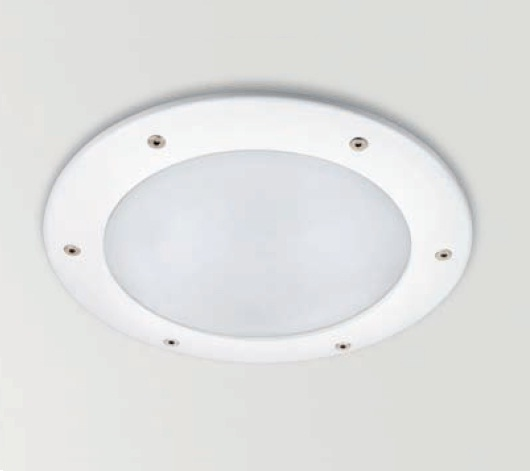 Dry Downlight 2xG24d-3 26w Glass Matt + Equipo elec IP65 white