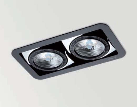Look 2 Recessed adjustable QR-111 G53 2x70w white matt