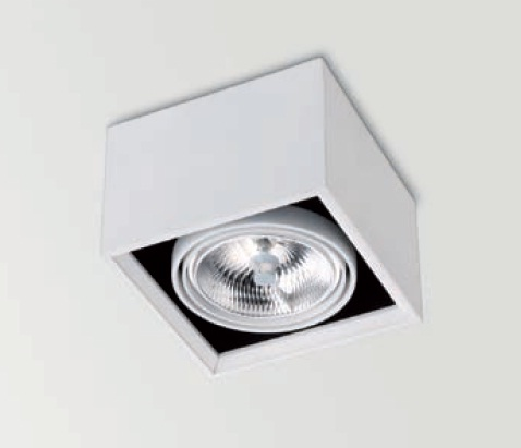 Orbital Surface 1 ceiling lamp adjustable QR-111 G53 75W + Equip electrónico Aluminium