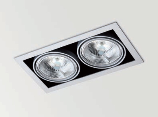 Orbital 2 Recessed adjustable QR-111 G53 2x75w black matt