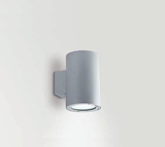 Wall&Surface Wall Lamp Outdoor Round wall 1xG12 70w IP65 + Equipo spot 15º Glass tranparente Aluminium