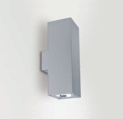 Wall&Surface Wall Lamp Outdoor Square wall 1xG12 70w IP65 + Equipo spot 15º Transparent glass Aluminium