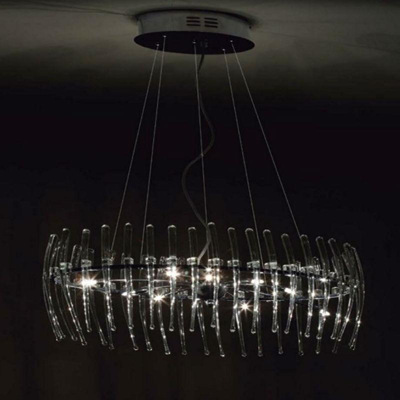 Comb oval 71 Pendant Lamp Stradivarius Black