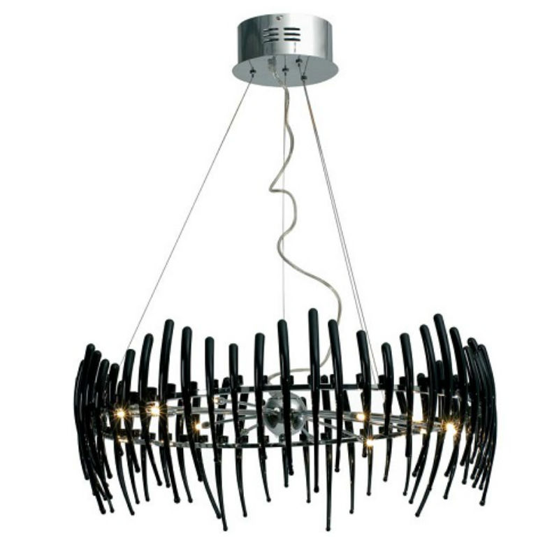Comb Circle 78 Pendant Lamp Stradivarius Black
