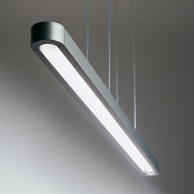 Talo Pendant lamp 1x54w Fluorescent linear, not adjustable Silver