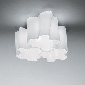 Logico ceiling lamp micro 4x90ú, Diffuser silk lúcido