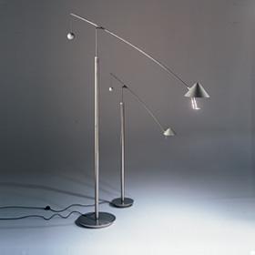 Nestore Lectura lámpara de Pie Halo QT12 UVrax 50W GY6.35 HSGST/UB 1180 lm Niquel