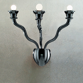 Gaia Wall Lamp 3 Wall Lamp Black