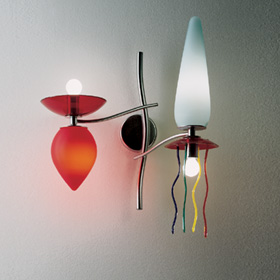 Giocchifre luz de parede 2 luz de parede Multicor