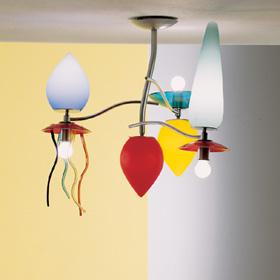 Giocchifre lâmpada do teto 3 lâmpada do teto Multicor