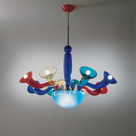 Leda Pendant Lamp 8 Multicolour