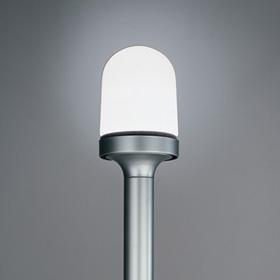 Aglaia Floor lamp Silver Body opal Diffuser in blown glass