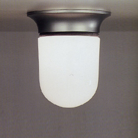 Illo ceiling lamp body Lamp Grey Silver with Diffuser Glass.