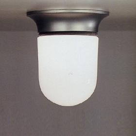 Illo Plafón Cuerpo Lámpara gris Plata con Difusor Cristal.