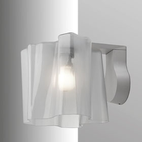 Logico Wall Lamp mini full Incandescent Diffuser silk