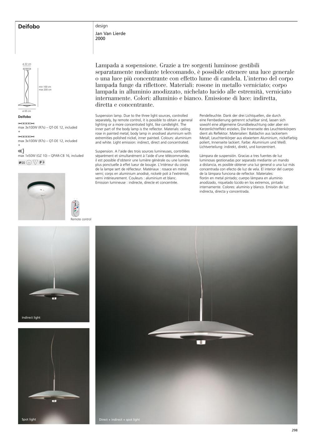 Deifobo Lámpara Colgante blanco/Aluminio