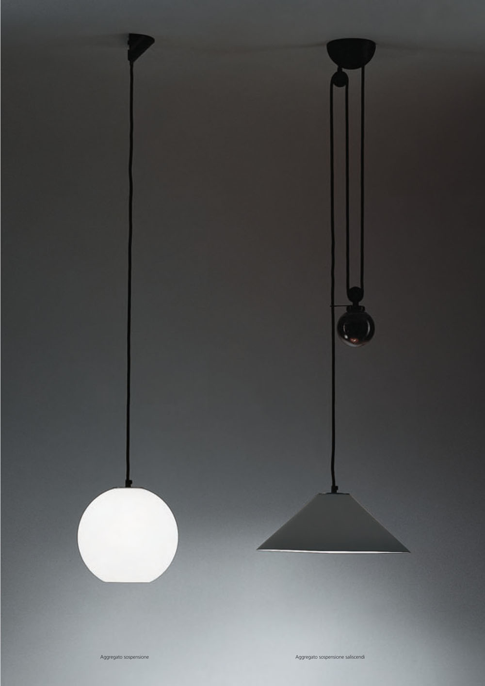 Aggregato Sospensione (Structure) for Pendant Lamp simple E27 20w without Accessory Diffuser