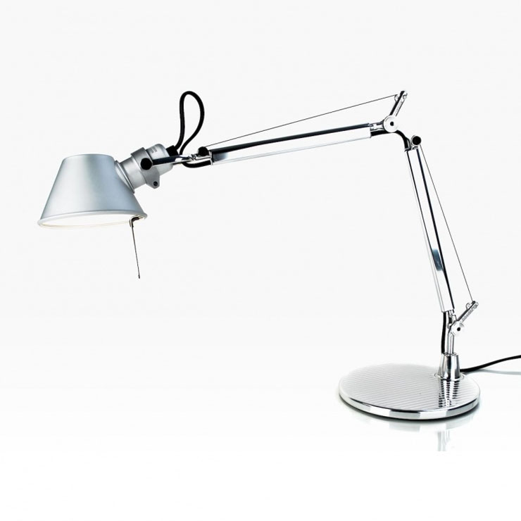 Tolomeo Micro (with table base) Halogen E14 1x46w - Aluminium