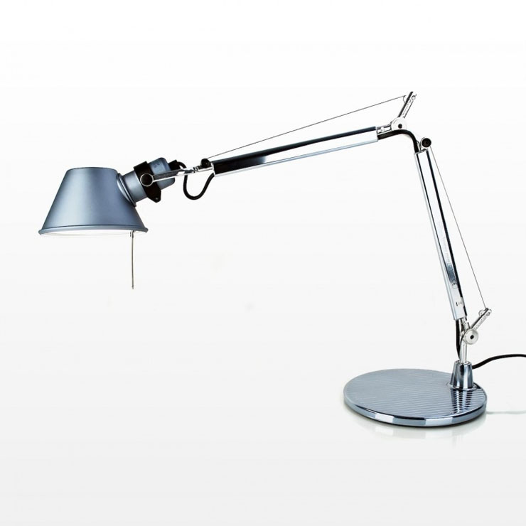 Tolomeo Micro (only structure) Halogen E14 1x46w - Anodized grey