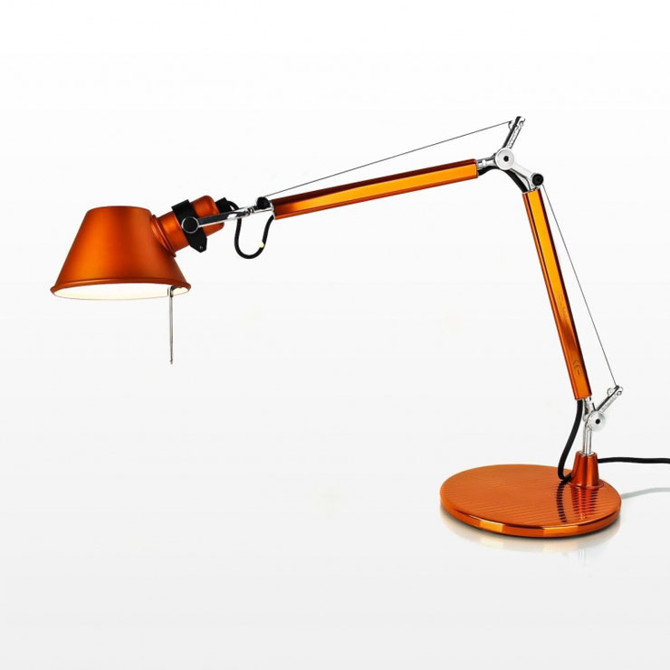Tolomeo Micro (with table base) Halogen E14 1x46w - Anodized orange