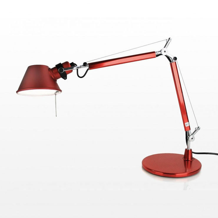 Tolomeo Micro (Table base) Halogen E14 1x46w - Anodized red