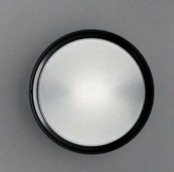 Pantarei 300 Vetro Sabbiado, Fluorescente 2x18w: Alluminio