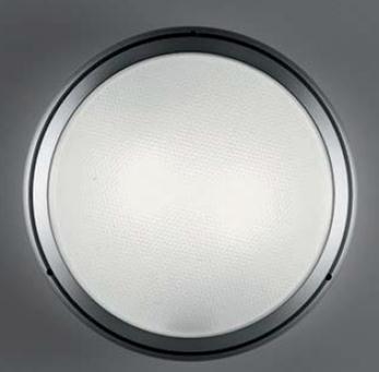 Pantarei 390 Vetro Sabbiado, Fluorescente 2x26w: Alluminio
