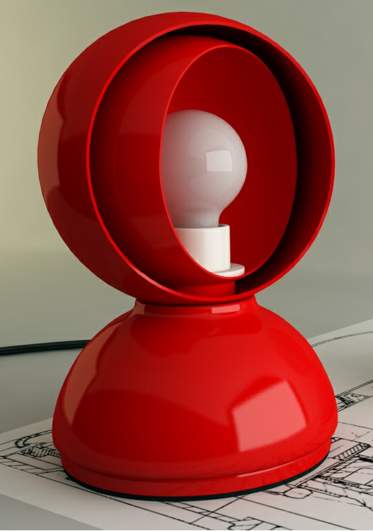 Eclisse Table/Wall lamp 1x18w E14 (HL) Red