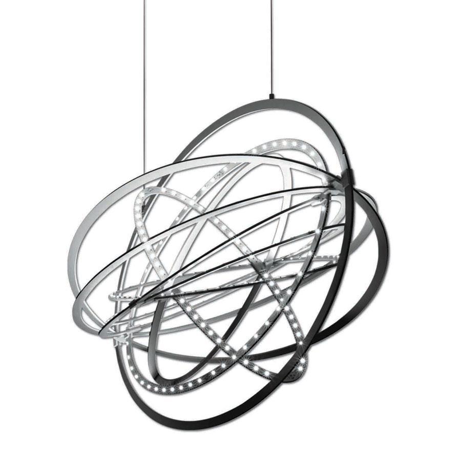 Copernico Pendant lamp 104cm 38w LED 3000K Aluminium