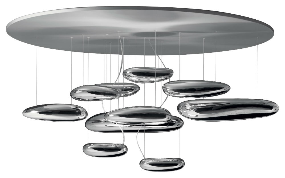 Mercury Ceiling lamp 110cm R7s 2x160w Stainless steel