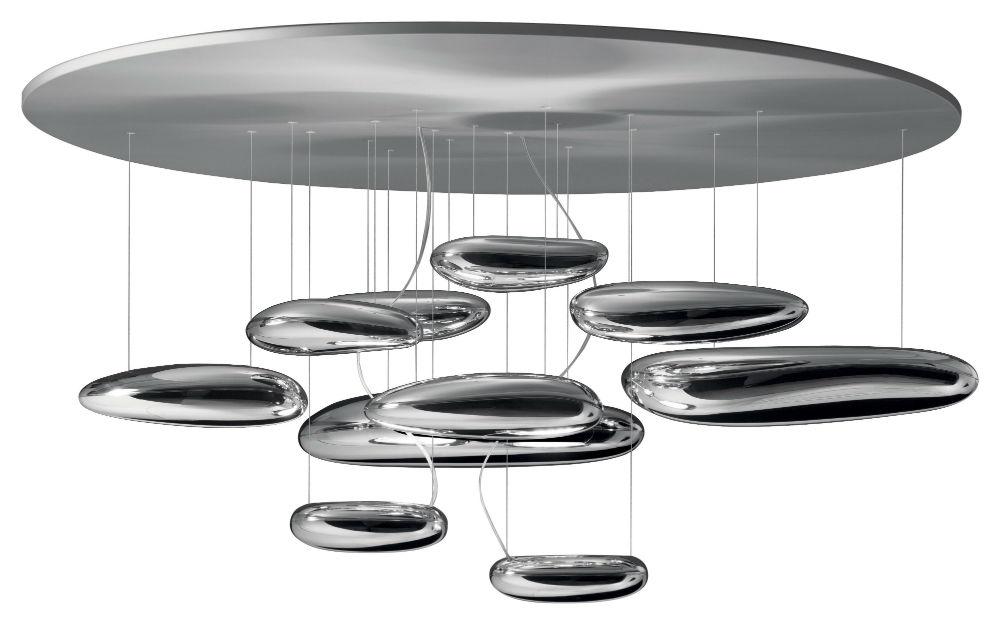 Mercury soffito 110cm R7s 2x160w acciaio Inox